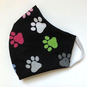 2/$15 SALE Dog Paw Print Face Mask Adult OSFM